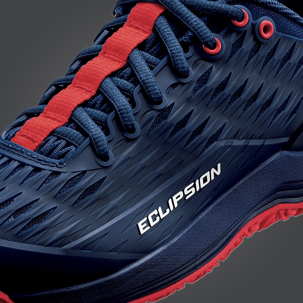 YONEX POWER CUSHION ECLIPSION 3 CLAY COURTS 紅土 網球鞋 深藍/紅