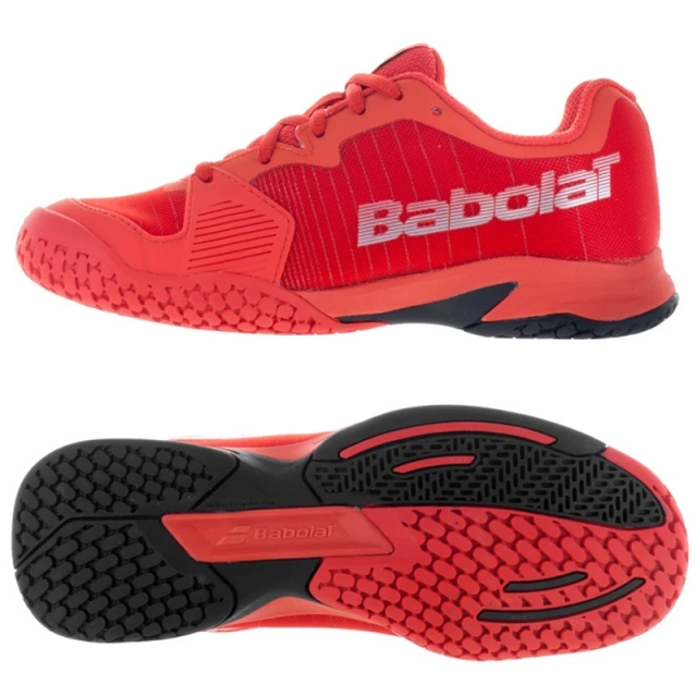 Babolat JET ALL COURT JUNIOR 輕少年網球鞋 紅