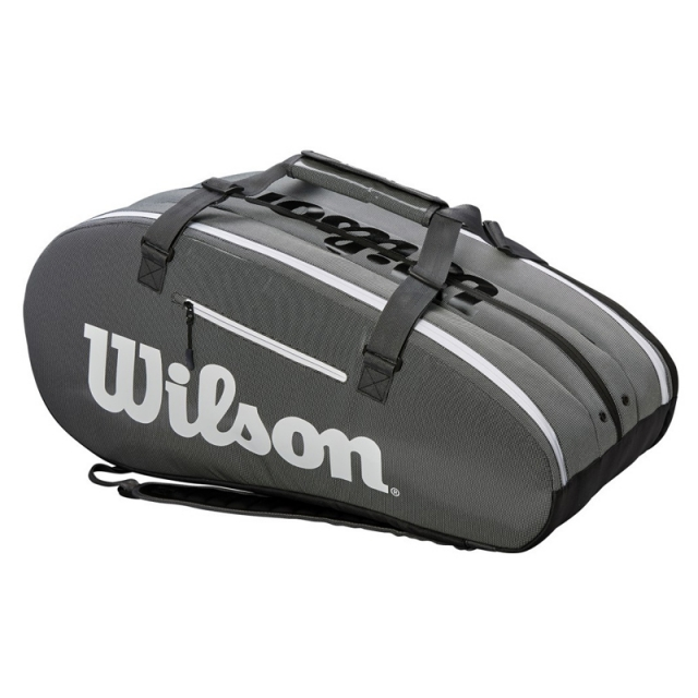 Wilson SUPER TOUR 3 COMPARTMENT 15PK 拍包袋 黑灰