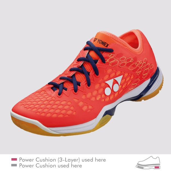 YONEX POWER CUSHION 03 Z LADIES 女款 羽球鞋 亮紅