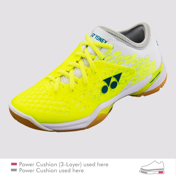 YONEX POWER CUSHION 03 Z LADIES 羽球鞋 螢光黃