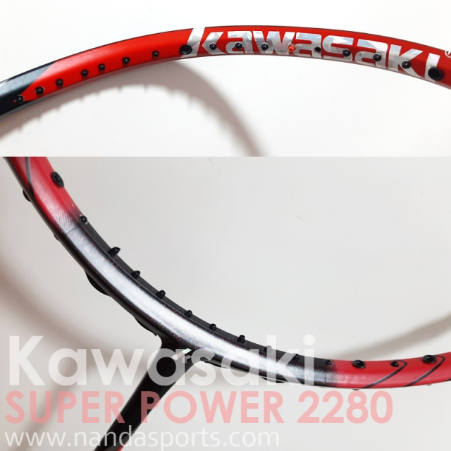川崎 Kawasaki SUPER POWER 2280 II 羽球拍 紅